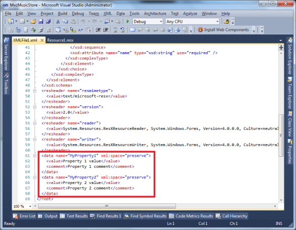 how to make a tag in xml file
